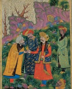 To menn fra muslimsk historie som skal ha vært elskere: Sultan Mahmud og hans slave Ayaz (http://www.gay-art-history.org/gay-blog/2010/11/mahmud-of-ghazni-and-ayaz/)